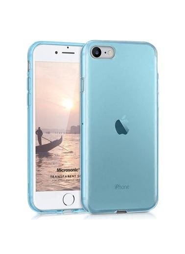 Microsonic Apple iPhone SE 2020 Kılıf Transparent Soft Mavi